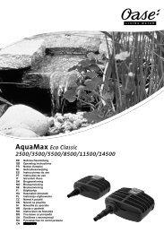 Bedienungsanleitung für AquaMax ECO Classic - Oase Teichbau