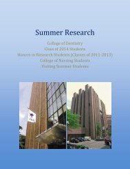 Summer Research - New York University