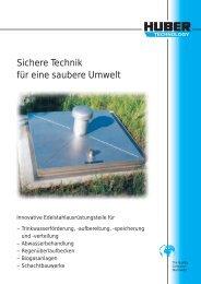 Sichere Technik für eine saubere Umwelt - Hans Huber AG