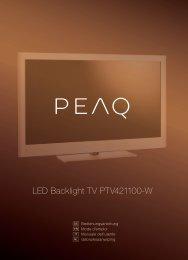 LED Backlight TV PTV421100-W - PEAQ
