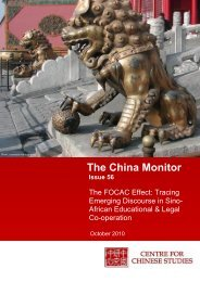 You can access Issue 56 of the China Monitor here. - The Centre for ...