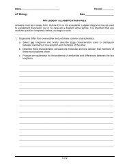 Classification Essay 2 - Explore Biology