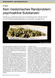 psychoaktive Substanzen - Schleswig-Holsteinisches Ärzteblatt