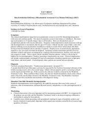 Beta Ketothiolase Deficiency - Office of Family Health Services