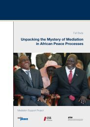 Unpacking the Mystery of Mediation in African Peace ... - Swisspeace