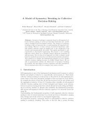 A Model of Symmetry Breaking in Collective Decision-Making