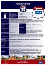 Ausschreibung - Sporting Club Berlin Scharmützelsee e.V.