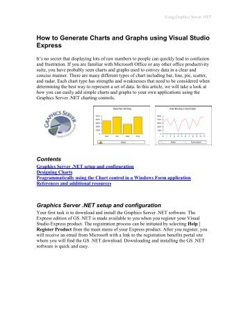 How to Generate Charts and Graphs using Visual Studio ... - Microsoft
