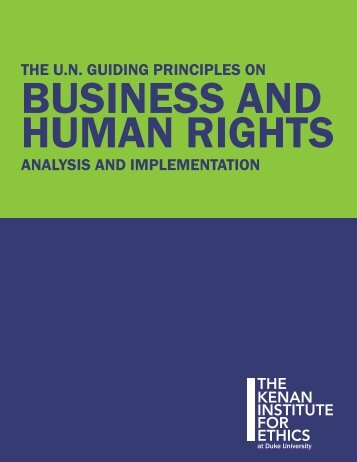 The U.N. Guiding Principles on Business and Human Rights
