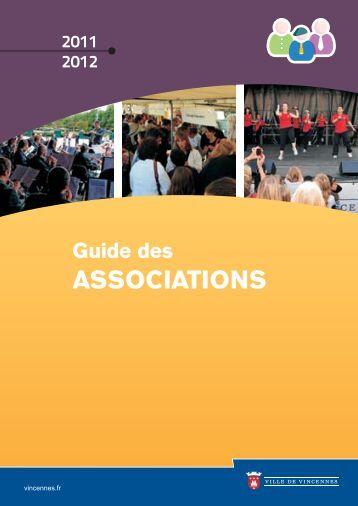 Guide des associations 2011/2012 (pdf - 2,26 - Ville de Vincennes
