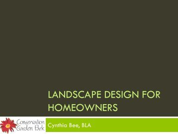 Landscape Design for Homeowners
