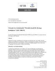 """Yttrande över betänkandet """"Förstärkt skydd för företags ... - SFIR"""