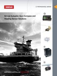 Simrad Autopilot, Gyro Compass and Heading Sensor ... - ProNav