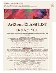 ArtZone CLASS LIST Oct/Nov 2011 - Scott County Arts Consortium ...