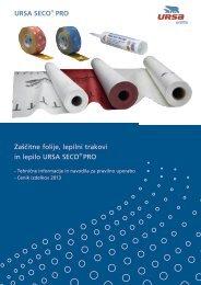Cenik izdelkov URSA SECO PRO 2013