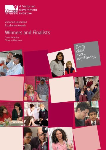 2009 Excellence Awards Winners and Finalists - Department of ...