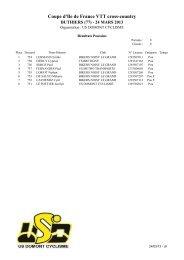 Coupe d'Ile de France VTT cross-country - ec morsang