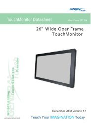 """26"""" Wide OpenFrame TouchMonitor TouchMonitor ... - Barcitronic"""
