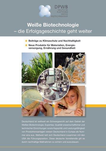 Das vollständige Positionspapier zum ... - BIO Deutschland
