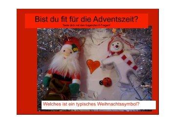 Bist du fit für die Adventszeit? - Part-bern.ch