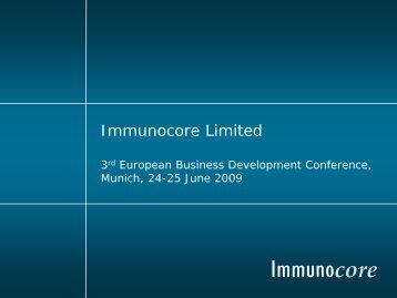 Immunocore - BIO Deutschland
