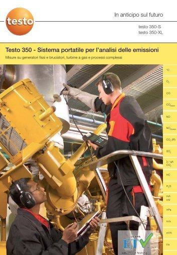 Testo 350 - Sistema portatile per l'analisi delle emissioni - Logismarket