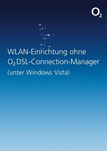 Wlan-Einrichtung ohne O2 Dsl-Connection-Manager