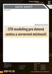 CFD modeling pro datová centra a serverové místnosti - Conteg