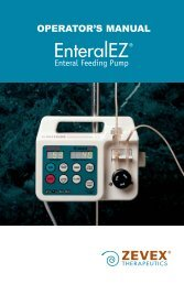 Zevex EnteralEZ Feeding Pump User Manual