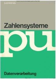 SIEMENS PU Zahlensysteme - Rainers - Elektronikpage