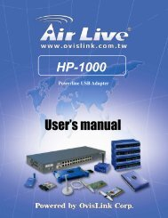 AirLive Powerline Network Configuration Utility Features Manual