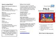 Patient Advice and Liaison Service - Plymouth Hospitals