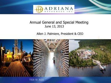 Corporate Presentation - Adriana Resources Inc.