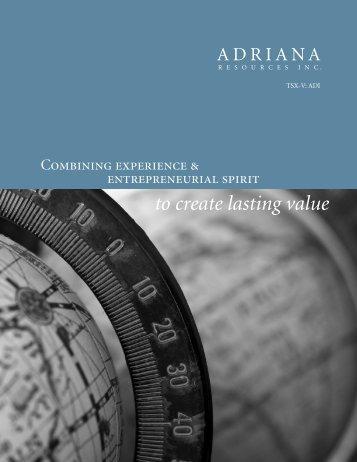 Brochure - Adriana Resources Inc.