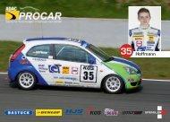 Autogrammkarte Pascal Hoffmann 2013 - ADAC Procar