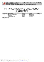81 - ARQUITETURA E URBANISMO (NOTURNO)