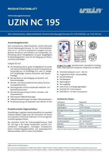 Produktdatenblätter - UZIN