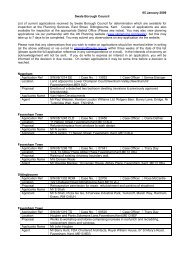 05 January 2009 Swale Borough Council List of current applications ...