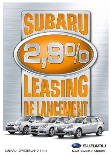Leasing - Subaru
