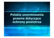 Polskie unormowania prawne dotyczące ochrony powietrza