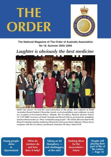 The Order Summer 2005-2006 - Order of Australia Association