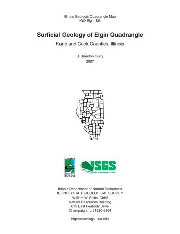 Surficial Geology of Elgin Quadrangle - Illinois State Geological ...