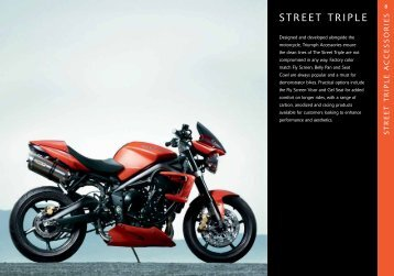 Accessories for your Triumph Street Triple