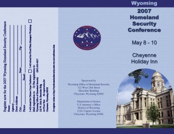 2007 Homeland Security Conference. - Wyoming Homeland Security