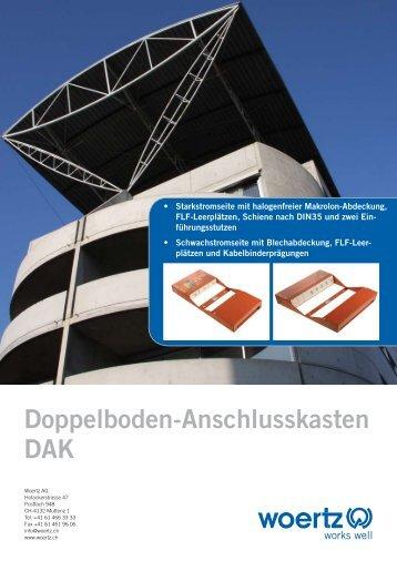 Doppelboden-Anschlusskasten DAK - Woertz AG