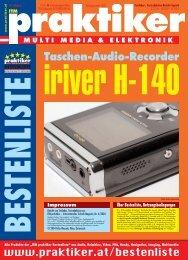 Testbericht iriver H-140 aus