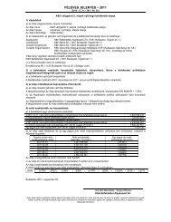 féléves jelentés - KBC Equitas