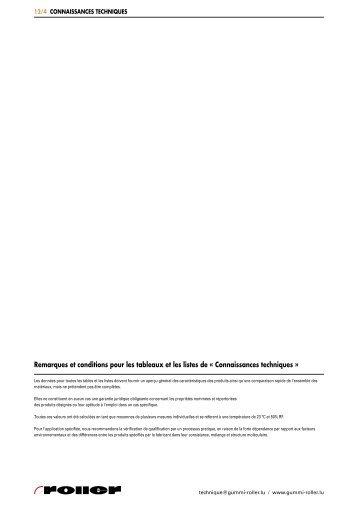 Connaissances techniques - Roller Belgium