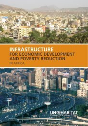Infrastructure for Economic Development and Poverty ... - UN-Habitat
