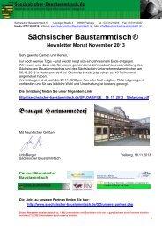 Newsletter Sächsischer Baustammtisch November 2013